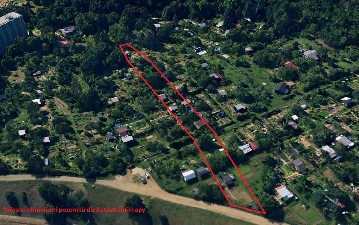 Prodej souboru pozemků o celkové výměře 1981 m², Brno-Bystrc, Jihomoravský kraj
