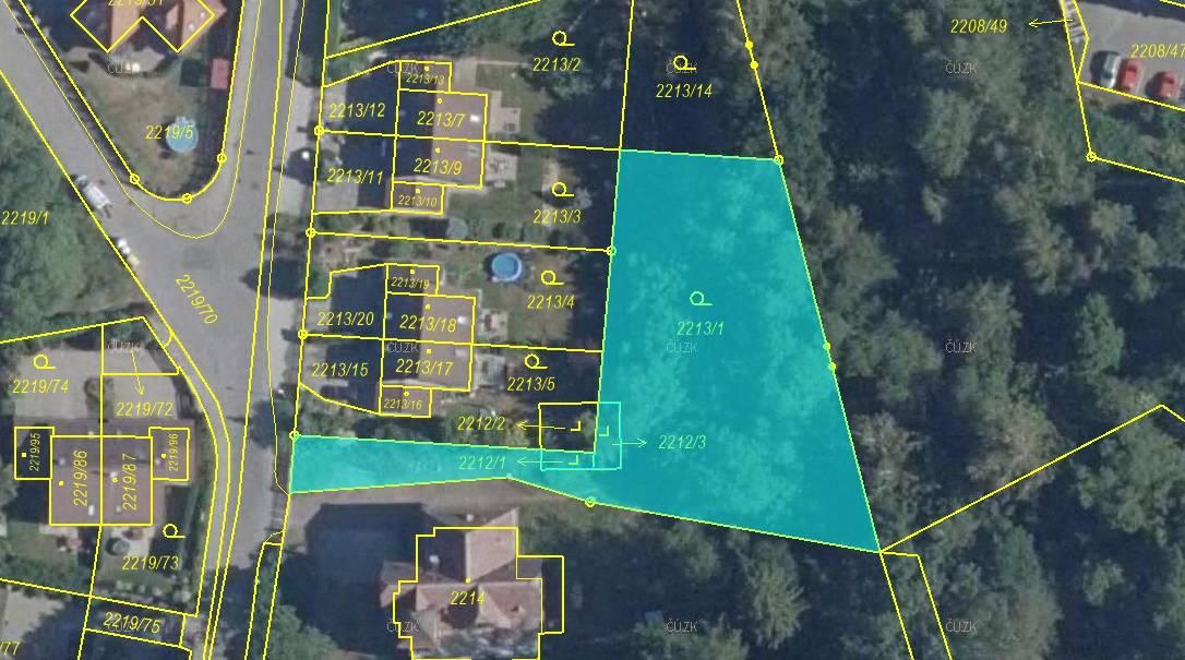 Prodej pozemků o výměře 1398 m², k.ú. Rochlice u